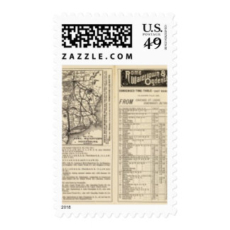 Rome, Watertown and Ogdensburg Railroad 2 Postage