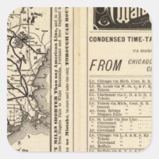 Rome, Watertown and Ogdensburg Railroad 2 Square Sticker