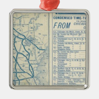 Rome, Watertown and Ogdensburg Railroad Square Metal Christmas Ornament