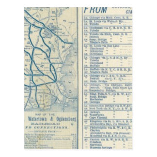 Rome Watertown and Ogdensburg Railroad Post Cards