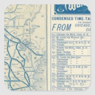 Rome, Watertown and Ogdensburg Railroad Square Sticker