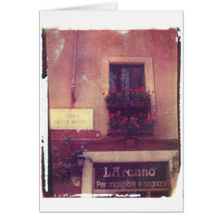 Rome Window with Geraniums Card