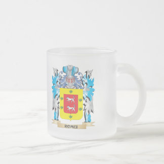 Romei Coat of Arms - Family Crest 10 Oz Frosted Glass Coffee Mug