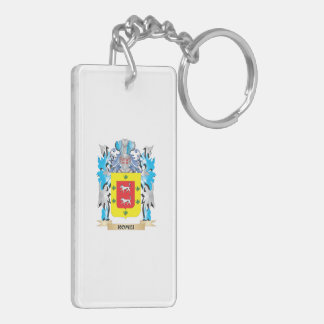 Romei Coat of Arms - Family Crest Double-Sided Rectangular Acrylic Keychain