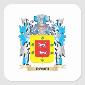 Romei Coat of Arms - Family Crest Square Sticker