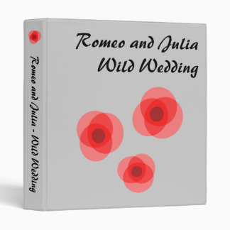 Romeo and Julia Wild Wedding 3 Ring Binder