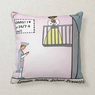 Romeo and Juliet 2.0 Throw Pillows