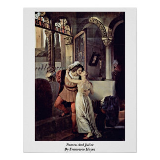 Romeo And Juliet By Francesco Hayez Poster