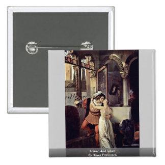 Romeo And Juliet By Hayez Francesco Pinback Button