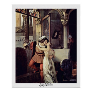 Romeo And Juliet, By Hayez Francesco Posters
