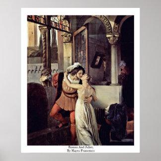Romeo And Juliet, By Hayez Francesco Print