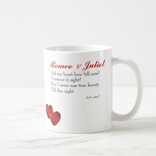 Romeo and Juliet Classic White Coffee Mug