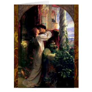 Romeo and Juliet Fine Art and Love Quote Card