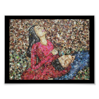 Romeo and Juliet Mosaic Poster