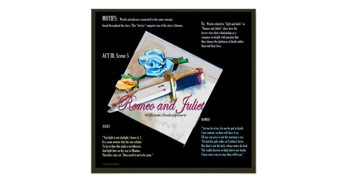 Romeo And Juliet Motifs Poster Zazzle