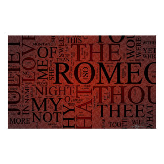 Romeo and Juliet (Red) Poster