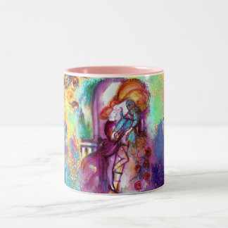 ROMEO AND JULIET Romantic Valentines's Day Hearts Two-Tone Coffee Mug