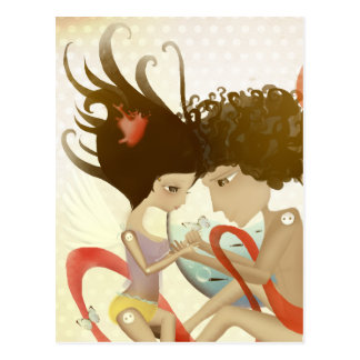Romeo and Juliet sunkissed romantic delight heart Postcard