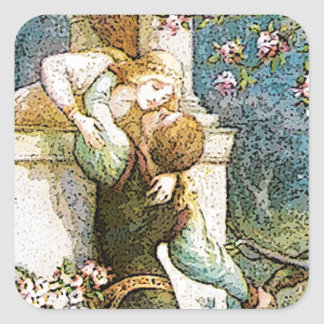 ROMEO AND JULIET VINTAGE.jpg Square Sticker