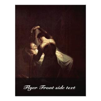 Romeo At Juliet'S Deathbed,  By Füssli Johann Hein Personalized Flyer
