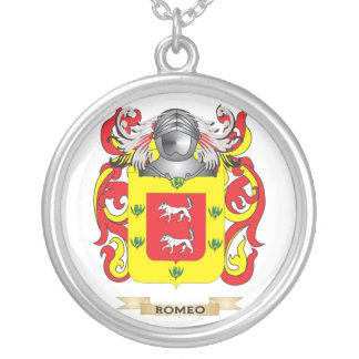 Romeo Coat of Arms (Family Crest) Silver Plated Necklace