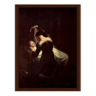 Romeo en el lecho de muerte de Juliet, por Füssli Postales