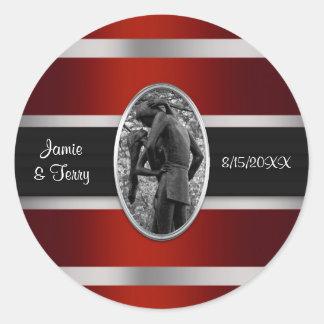Romeo & Juliet, Central Park NYC Invitation Suite Classic Round Sticker