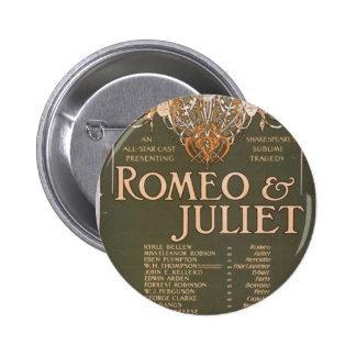 Romeo Juliet Liebler Co Retro Theater Pinback Button