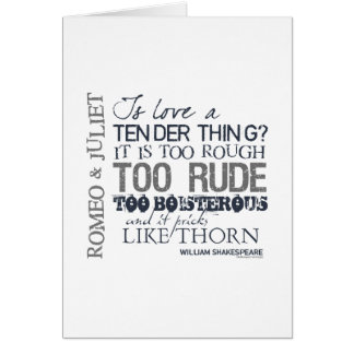 Romeo & Juliet Love Quote Card