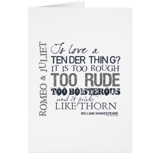 Romeo & Juliet Love Quote Greeting Card