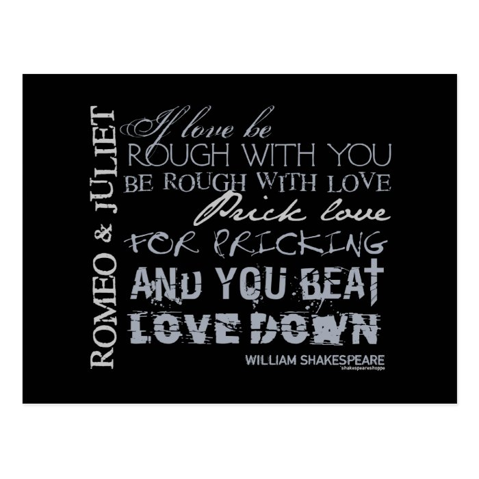 Romeo & Juliet Love Quote Postcard