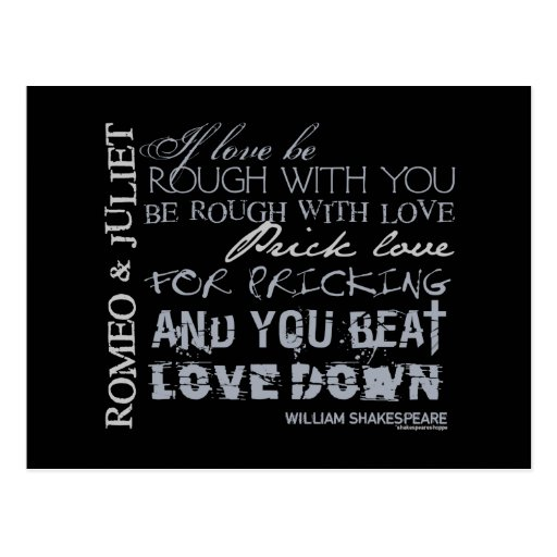 Romeo & Juliet Love Quote Postcards