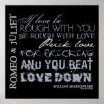 Romeo & Juliet Love Quote Poster