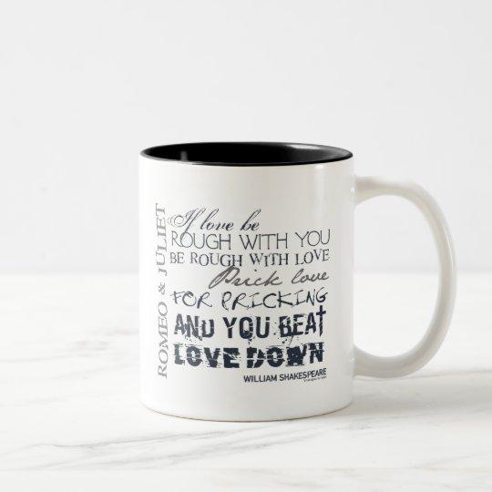 Romeo & Juliet Love Quote Two-Tone Coffee Mug