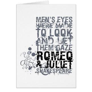 Romeo & Juliet Men Quote Card