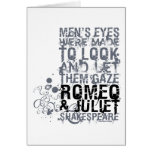 Romeo & Juliet Men Quote Greeting Card