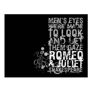 Romeo Juliet Men Quote Post Card