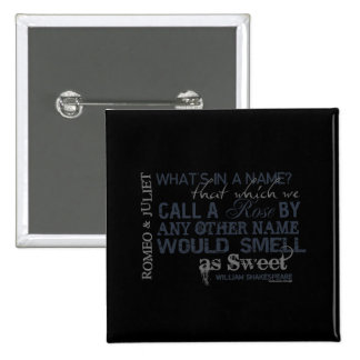 Romeo Juliet Name Quote Pinback Button