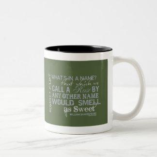 Romeo & Juliet Name Quote Mugs