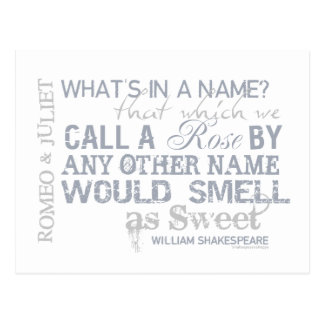 Romeo & Juliet Name Quote Post Card