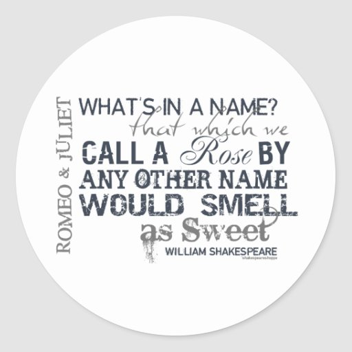 Romeo & Juliet Name Quote Stickers