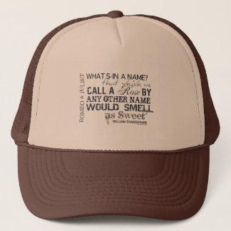 Romeo & Juliet Name Quote Trucker Hat