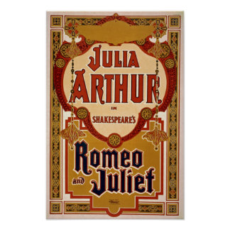 Romeo & Juliet Play Vintage Poster
