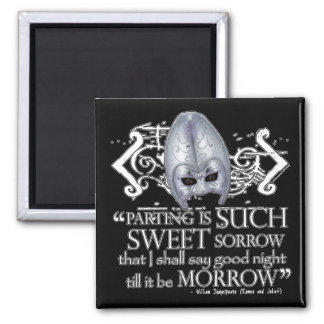 Romeo & Juliet Quote 2 Inch Square Magnet