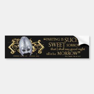 Romeo & Juliet Quote (Gold Version) Bumper Sticker