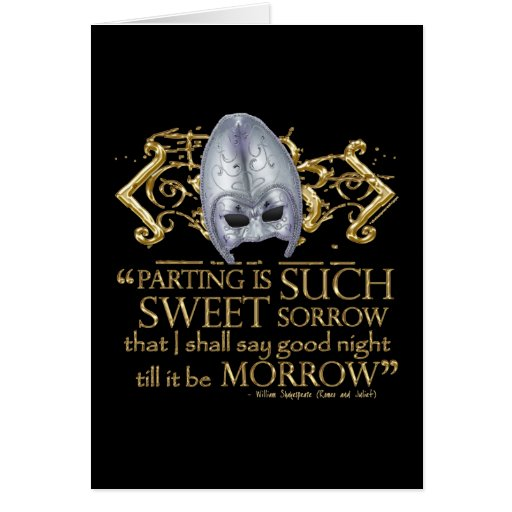 Romeo & Juliet Quote (Gold Version) Cards