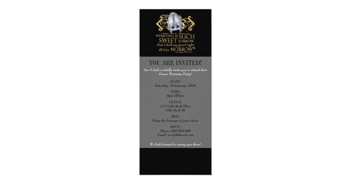Romeo And Juliet Wedding Invitations: Romeo & Juliet Quote (Gold Version) Invitation