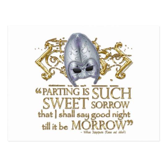 Romeo & Juliet Quote (Gold Version) Postcard