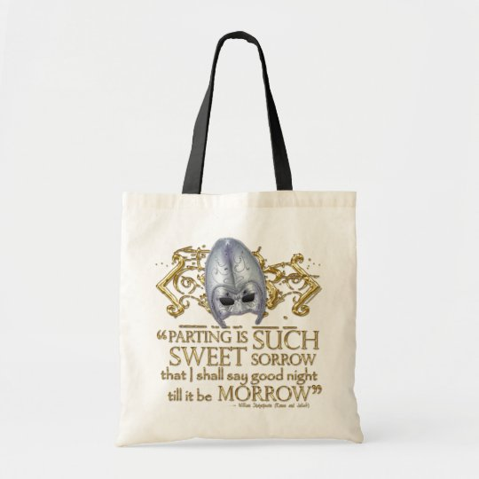 Romeo & Juliet Quote (Gold Version) Tote Bag