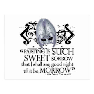 Romeo & Juliet Quote Post Card